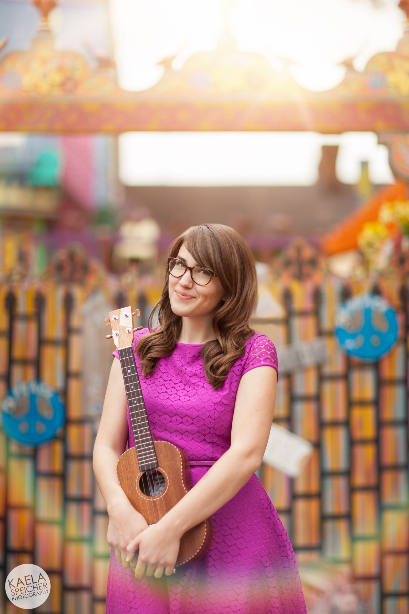 Ukulele Rainbow by Kaela Speicher Photography